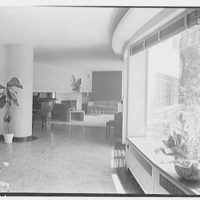 Thomas S. Holden, residence on Tory Hill Rd., Darien, Connecticut. Corridor, to living room