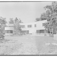 Thomas S. Holden, residence on Tory Hill Rd., Darien, Connecticut. South facade from center