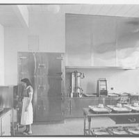 Triboro Hospital for Tuberculosis, Parsons Blvd., Jamaica, New York. Serving kitchen, with figures