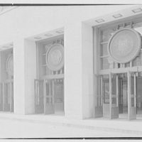 U.S. Courthouse and Post Office, Philadelphia, Pennsylvania. North facade, entrance doors