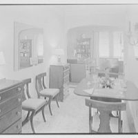 V.E. Baikow, residence at 130 E. 93rd St., New York City. Dining alcove, to living room
