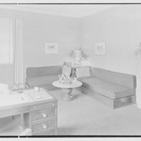 V.E. Baikow, residence at 130 E. 93rd St., New York City. Living room, to corner couches
