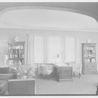 V.E. Baikow, residence at 130 E. 93rd St., New York City. Living room, to desk and window, blinds down