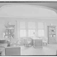 V.E. Baikow, residence at 130 E. 93rd St., New York City. Living room, to desk and window, blinds up