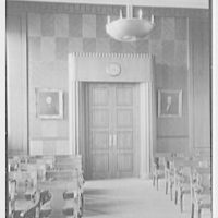 Virginia State Library & Courthouse, Richmond, Virginia. Courtroom entrance, vertical