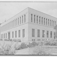Virginia State Library & Courthouse, Richmond, Virginia. Library facade from right