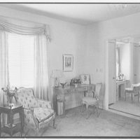 W.L. Gilmore, residence at 115 Ocean Blvd., Golden Beach, Florida. Mrs. Gilmore's bedroom, to desk