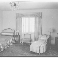 W.L. Gilmore, residence at 115 Ocean Blvd., Golden Beach, Florida. Mrs. Gilmore's bedroom, to bed