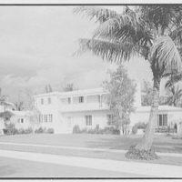 Albert L. Heller, residence at 5445 N. Bay Rd., Miami Beach, Florida. Entrance facade