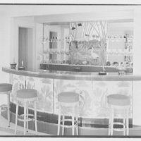Albert Mills, residence at 5970 N. Bay Rd., Miami Beach, Florida. Detail of bar