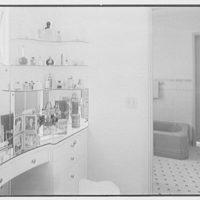 Albert Mills, residence at 5970 N. Bay Rd., Miami Beach, Florida. Dressing room
