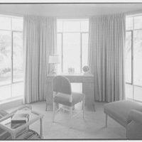 Albert Mills, residence at 5970 N. Bay Rd., Miami Beach, Florida. Little sitting room