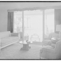 Albert Mills, residence at 5970 N. Bay Rd., Miami Beach, Florida. Living room, to window