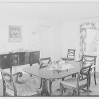 Barthelmy G. Lachelier, residence on Knollwood Drive, Greenwich, Connecticut. Dining room