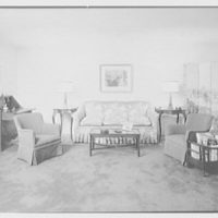 Barthelmy G. Lachelier, residence on Knollwood Drive, Greenwich, Connecticut. Living room sofa