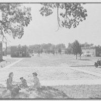 Bellmawr Homes, Camden, New Jersey. Long shot on axis