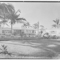 Bertram A. Stroock, residence at 824 88th St., Miami Beach, Florida. Entrance facade