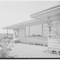 Bertrand L. Taylor, residence in Hobe Sound, Florida. Beach facade, detail II