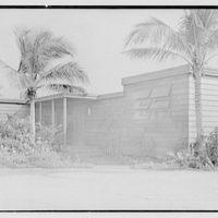 Bertrand L. Taylor, residence in Hobe Sound, Florida. Entrance section