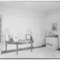 Bertrand L. Taylor, residence in Hobe Sound, Florida. Living room, end hall