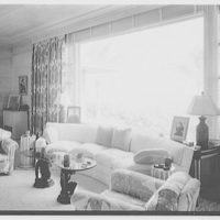 Bertrand L. Taylor, residence in Hobe Sound, Florida. Living room, to ocean window