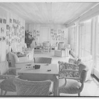 Bertrand L. Taylor, residence in Hobe Sound, Florida. Loggia, to pictures