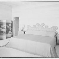 Bertrand L. Taylor, residence in Hobe Sound, Florida. Master bedroom, to bed