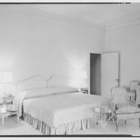 Commodore Louis D. Beaumont, residence in Palm Beach, Florida. Master bedroom, to bed
