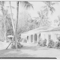 Commodore Louis D. Beaumont, residence in Palm Beach, Florida. Pool house