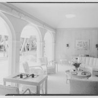 Commodore Louis D. Beaumont, residence in Palm Beach, Florida. Pool pavilion, to pool