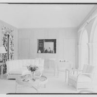 Commodore Louis D. Beaumont, residence in Palm Beach, Florida. Pool pavilion, to bar