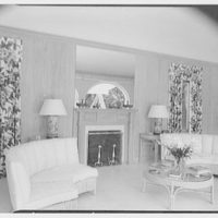 Commodore Louis D. Beaumont, residence in Palm Beach, Florida. Pool pavilion, to fireplace