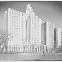 Criminal Courts Building, 100 Center St., New York City. Exterior from park