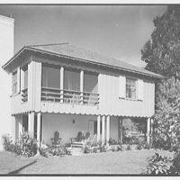 Donald D. Williams, residence in Vero Beach, Florida. East facade