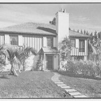 Donald D. Williams, residence in Vero Beach, Florida. Entrance facade