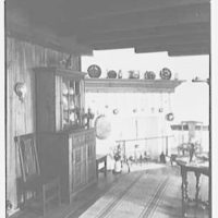 "Dr. A.S. Barnes, ""Ker-Feal"", residence in Chester Springs, Pennsylvania. Copper cauldron room fireplace"