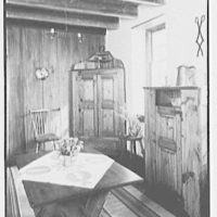 "Dr. A.S. Barnes, ""Ker-Feal"", residence in Chester Springs, Pennsylvania. Cupboard and chest"