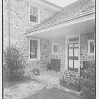 "Dr. A.S. Barnes, ""Ker-Feal"", residence in Chester Springs, Pennsylvania. Entrance detail"