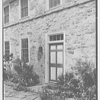 "Dr. A.S. Barnes, ""Ker-Feal"", residence in Chester Springs, Pennsylvania. Rear entrance detail II"