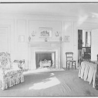 Edwin J. Beinecke, residence in Greenwich, Connecticut. Guest room, to fireplace