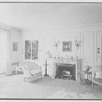 Edwin J. Beinecke, residence in Greenwich, Connecticut. Mrs. Beinecke's bedroom, to fireplace