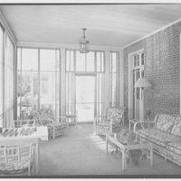 Edwin J. Beinecke, residence in Greenwich, Connecticut. Porch II
