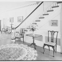 Edwin J. Beinecke, residence on Cliffdale Rd., Greenwich, Connecticut. Entrance hall, to south door