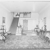 Edwin J. Beinecke, residence on Cliffdale Rd., Greenwich, Connecticut. Entrance hall, to stairs