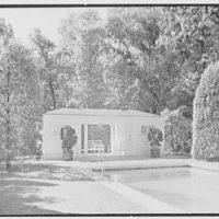 Edwin J. Beinecke, residence on Cliffdale Rd., Greenwich, Connecticut. Pavilion