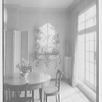Emma Romeyn, residence at 30 Sutton Pl., New York City. Dining alcove and flower window