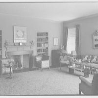 Emma Romeyn, residence at 30 Sutton Pl., New York City. Living room