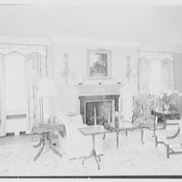 Frank J. Pagliaro, residence on Crow Hill Rd., Mount Kisco, New York. Living room, to fireplace I