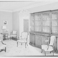 Frank J. Pagliaro, residence on Crow Hill Rd., Mount Kisco, New York. Living room, to secretary