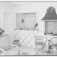 G.C. Pound, residence in Hollywood, Florida. Barbecue room, to bar (no figure)